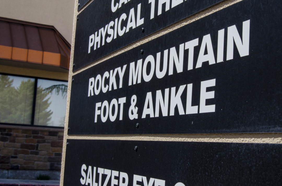sign for rocky mountain foot and ankle caldwell